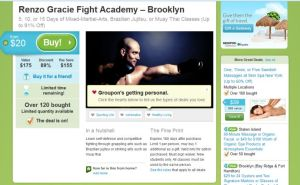 groupon - martial arts